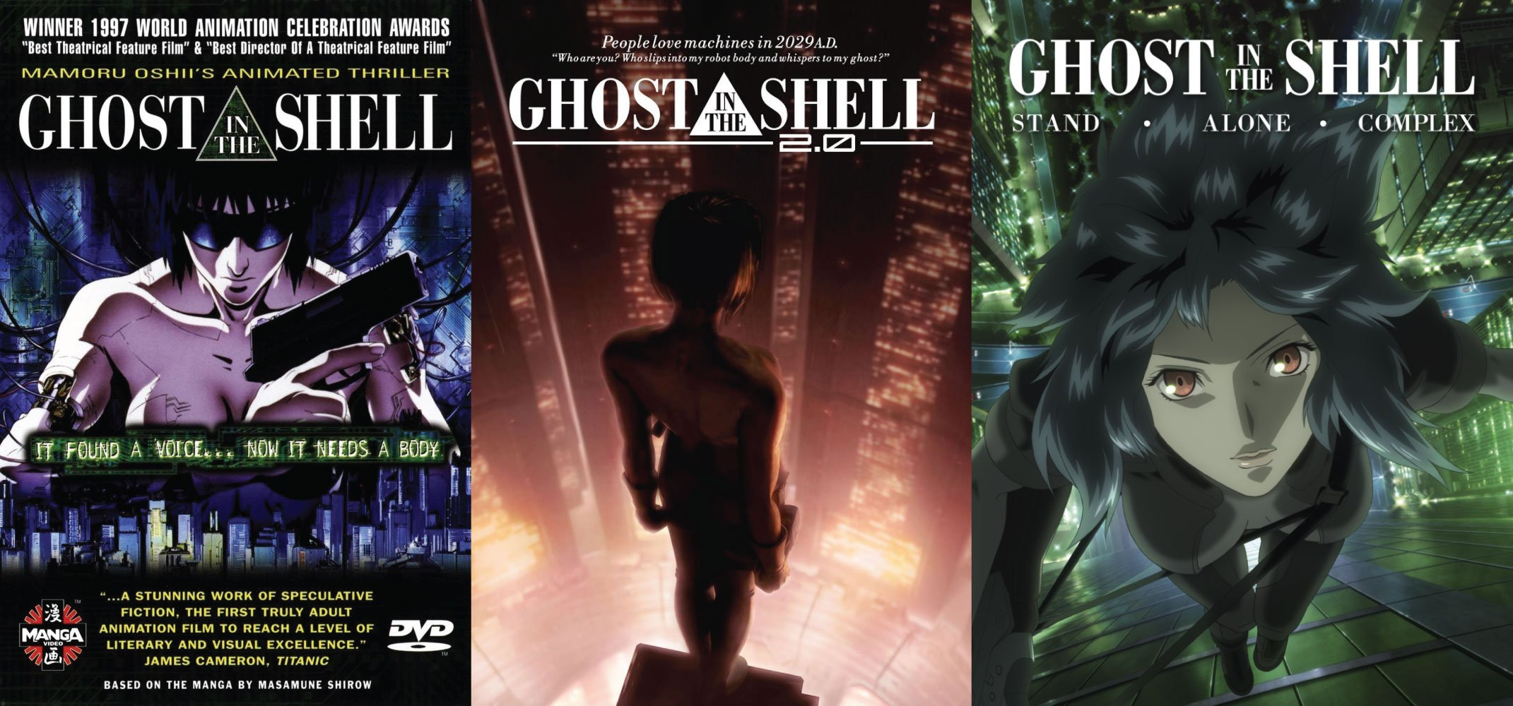Ghost In The Shell 1995 2 0 Redux And Stand Alone Complex Are Coming To Funimation Now Uk Anime Uk News